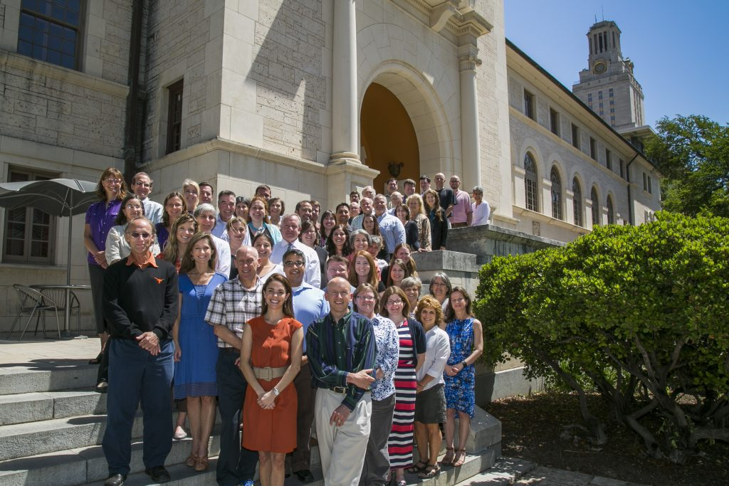 Group shot of the Department of Kinesiology and Health Education faculty and staff at The University of Texas at Austin.