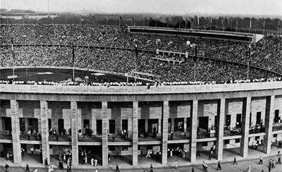 An old photo of an olympic stadium